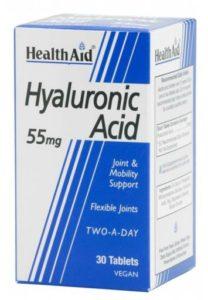 Hyaluronsäure kaufen Health Aid Hyaluronsäure 55mg. 30comp PLATZ 1